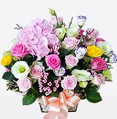 꽃바구니 > 분홍수국꽃바구니4