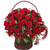 꽃바구니 > 붉은장미꽃바구니5