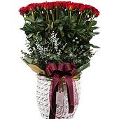 꽃바구니 > 붉은장미꽃바구니4
