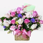 꽃바구니 > 분홍장미꽃바구니3