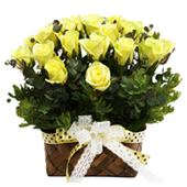 꽃바구니 > 노란장미꽃바구니5