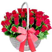 꽃바구니 > 붉은장미꽃바구니7